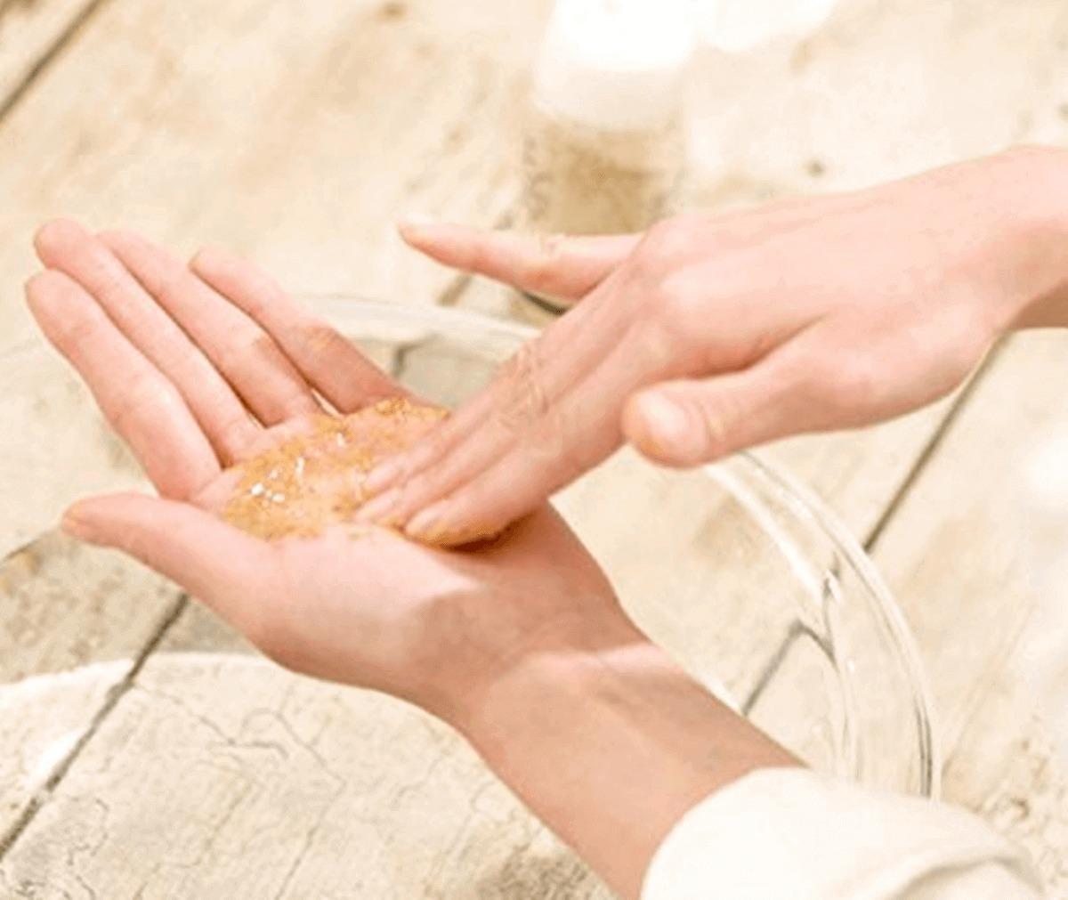 米ぬかを使った洗顔方法